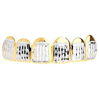 Gold Grillz - one size fits all - Diamond cut ONE - top