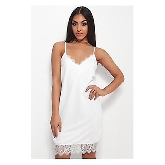 The Fashion Bible Luna White Lace Cami Slip Dress