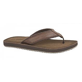 PDQ Mens Toe Post Mule Flip Flops