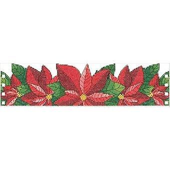 Poinsettia Candle Corset Counted Cross Stitch Kit-11