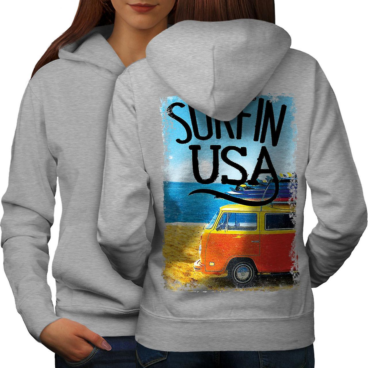 Surfin USA affiche femmes grisHoodie dos