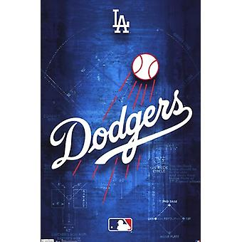 Los Angeles Dodgers - logotipo 2011 Poster Print