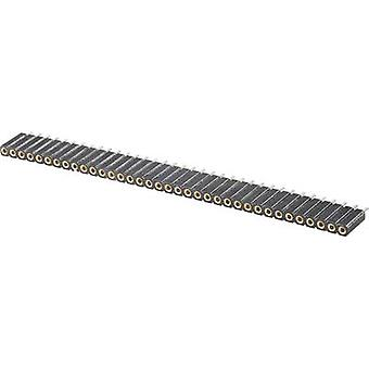 W & P Products 153-036-1-50-10 Precision Socket Terminal Strip Number of pins: 1 x 36 Nominal current (details): 3 A