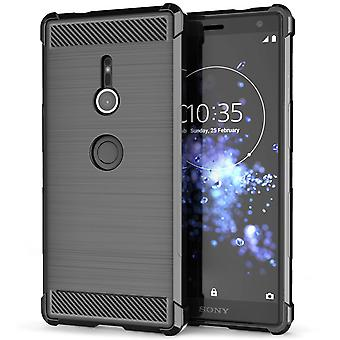 Sony Xperia XZ2 Carbon Anti höst TPU väska - svart