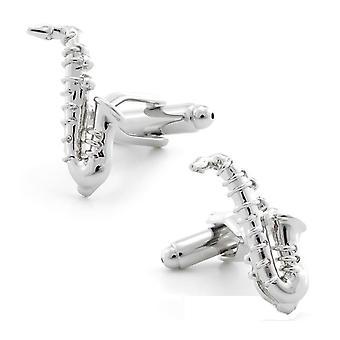Musik saxofon Party nyhet manschettknappar bröllop gåva Smart musiker Play Mode