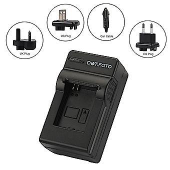 Dot.Foto Nikon EN-EL8 Travel Batterieladegerät - ersetzt Nikon MH-62 für Nikon Coolpix P1, P2, S1, S2, S3, S5, S6, S7c, S9, S50, S50c, S51, S51c, S52, S52c
