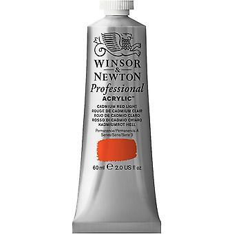Winsor & Newton Professional Acrylic 60ml - 100 Cadmium Red Light (S3)