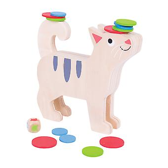 Bigjigs Toys Wooden Stack a Cat Balance Stacking Game