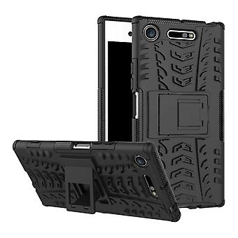 Hybrid case 2 piece SWL robot black for Sony Xperia XZ1 G8341 G8342 bag case cover protection