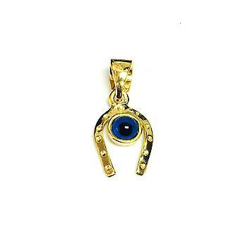 الجنيه الاسترليني ك 18 الفضية المطلية بالذهب تراكب الحصان الأحذية سحر العين
