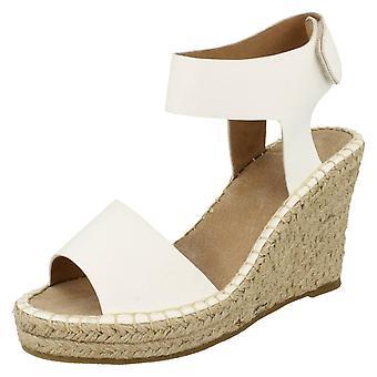 Ladies Savannah High Wedge Open Back Sandals