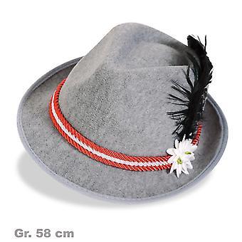 Bayern Hat Seppelhut Herrnhut Bavarian Oktoberfest Hat Red