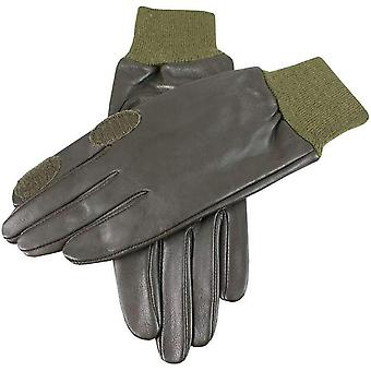 Dents Purdy Hairsheep Leather Shooting Gloves - Olive