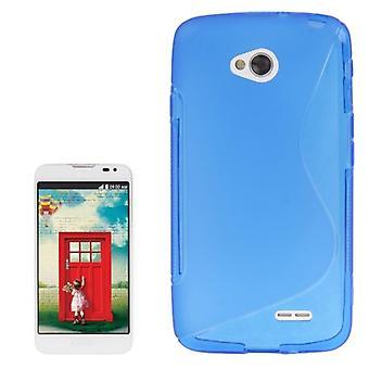 Handyhülle S Line TPU Tasche für LG L70 / Dual D325 Blau