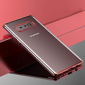 Handy Hülle Schutz Case für Samsung Galaxy Note 8 Durchsichtig Transparent Rose Pink