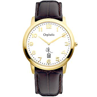 ORPHELIA Mens analogico guardare La Ballade Brown Leather 132-6700-13