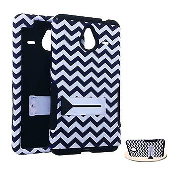 Hopper Protector Case for Microsoft Lumia 640 XL (Black/White Waves Snap and Bla