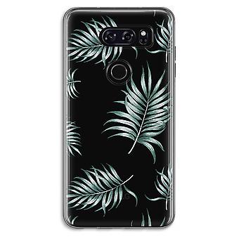 LG V30 Transparent Case (Soft) - Simple leaves