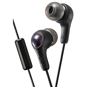 JVC HAFX7MB Gumy Plus In Ear Earphone with Mic & Remote - Black