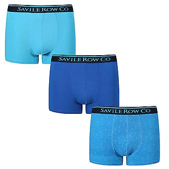Designer Savile Row 3 Pack Boxer Trunks Winston