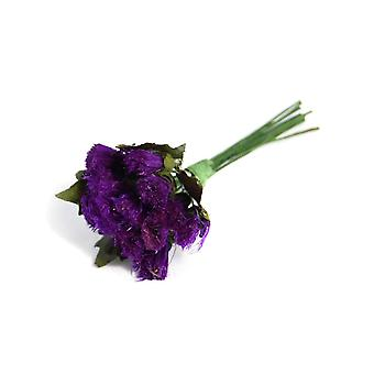6 Artificial Purple Thistle Spray Picks for Floristry Crafts