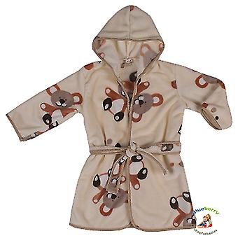 BlueberryShop  Printed Luxurious Hooded Soft Warm and Fluffy Velour Bathrobe, Robe, Dressing Gowns 1-7 Yrs
