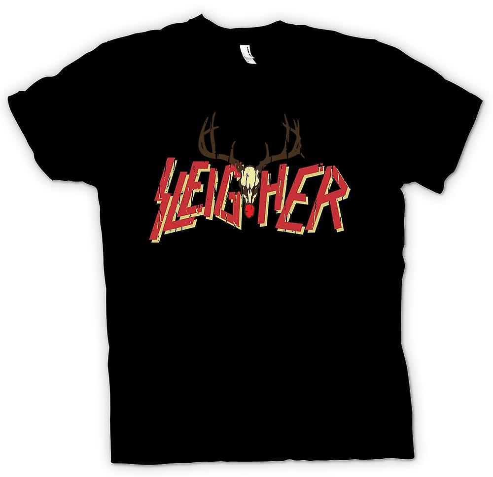 Kids T-shirt - Sleigher Rock Metal Inspired Christmas