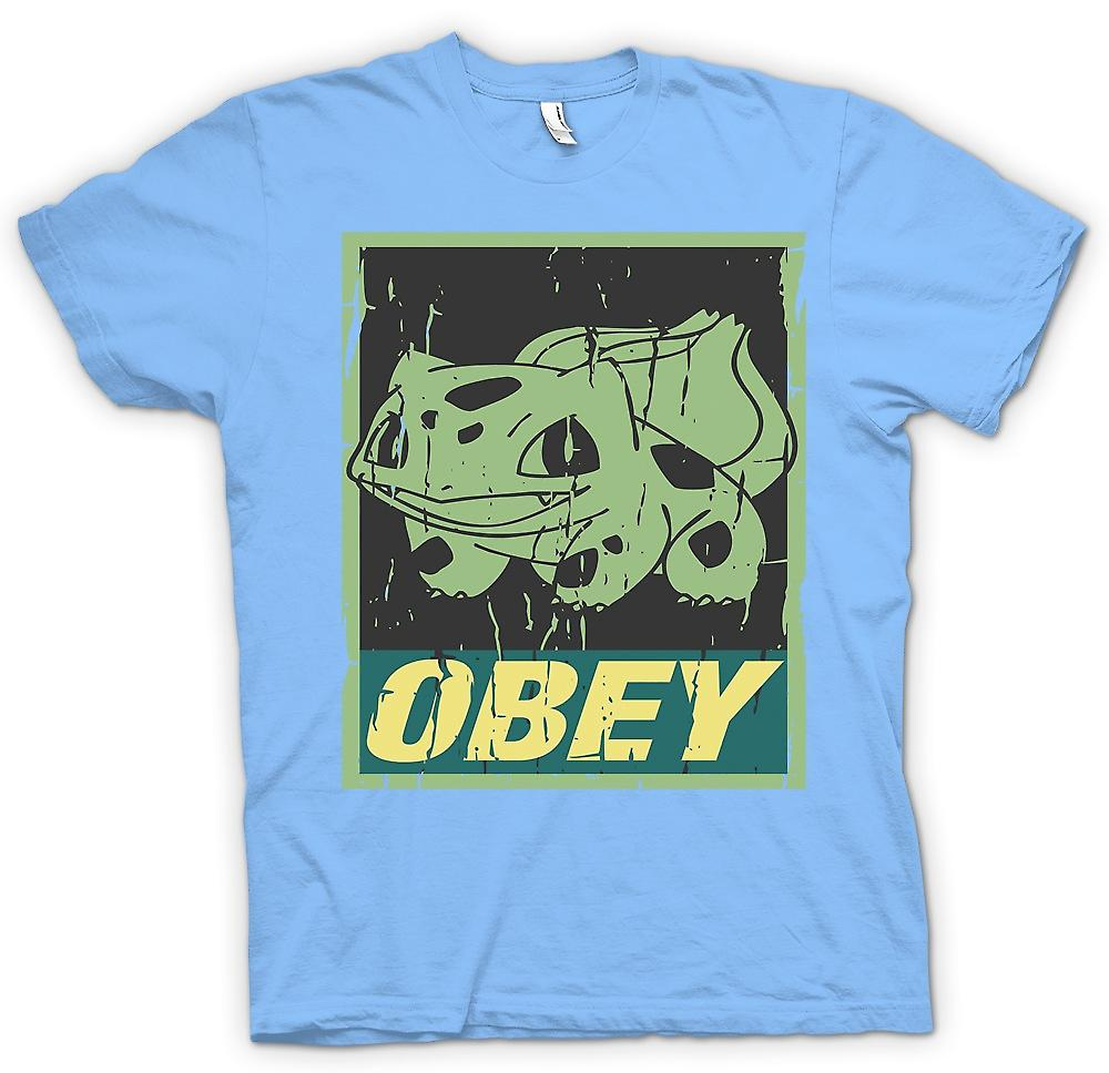 Herr T-shirt-Bulbasaur lyda - Cool Pokemon inspirerad
