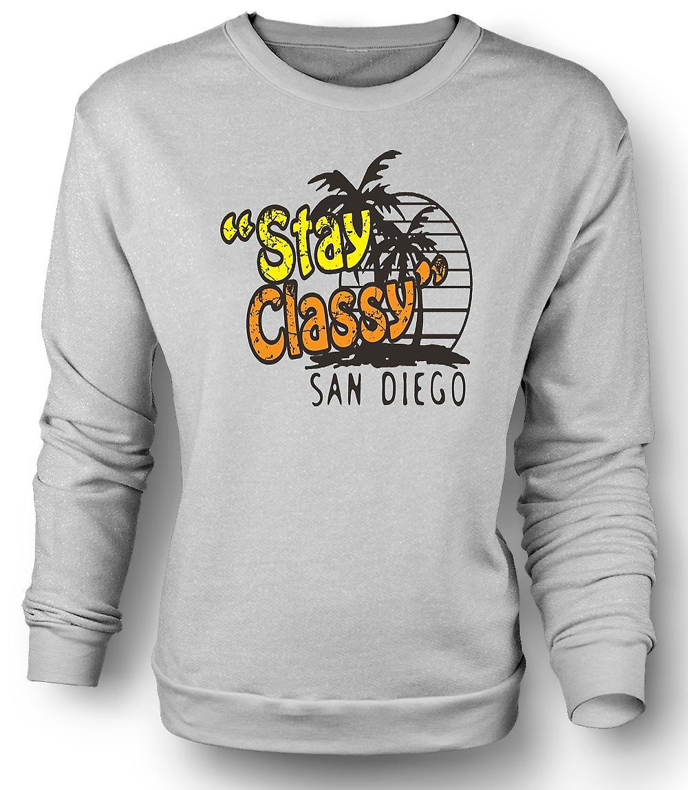 Sudadera para hombre alojarte con clase San Diego - gracioso