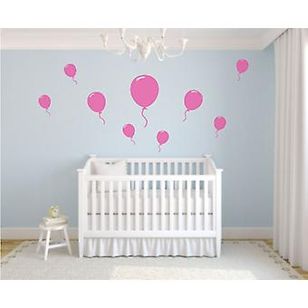 Set of 9 Balloon Wall Stickers