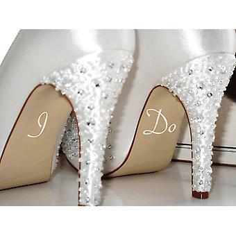 I Do Wedding Shoe Stickers