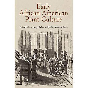 Tidig African American Print kultur (materiella texter)