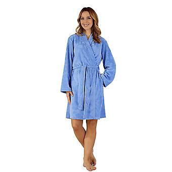 Slenderella HC3305 Women's Woven Dressing Gown Loungewear Bath Robe Kimono
