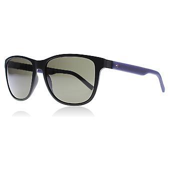 Tommy Hilfiger 1403/S R5Y matt schwarz / blau 1403/S Rechteck Sonnenbrille Kategorie 3 Größe 56mm Objektiv