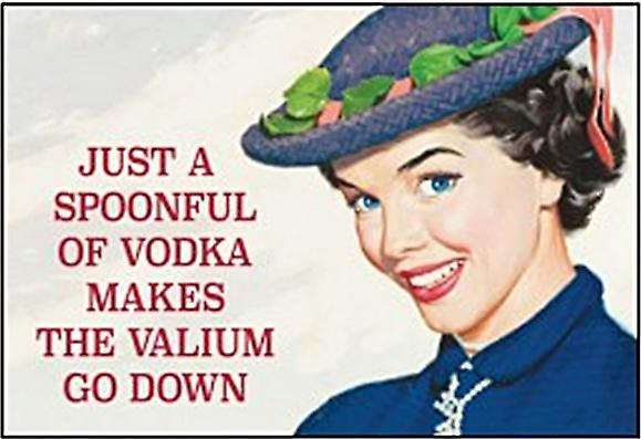 Just A Spoonful Of Vodka funny fridge magnet                   (ep)