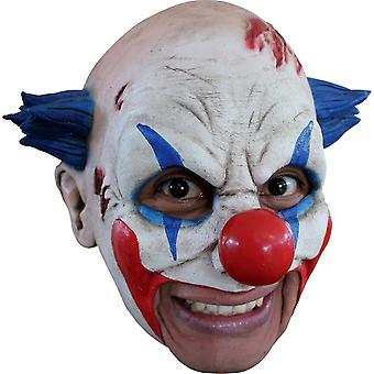 Clown Latex Mask W/ Blue Hair For Halloween