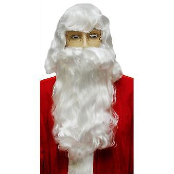 Santa Claus Beard Set White