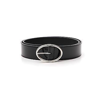 Saint Laurent Black Leather Belt
