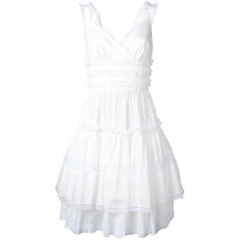 Dolce E Gabbana White Cotton Dress