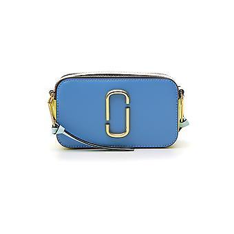 Marc Jacobs Snapshot Light Blue Leather Shoulder Bag