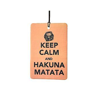 Keep Calm And Hakuna Matata Car Air Freshener