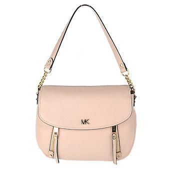 MICHAEL by Michael Kors Evie Soft Pink Leather Medium Shoulder Flap Bag