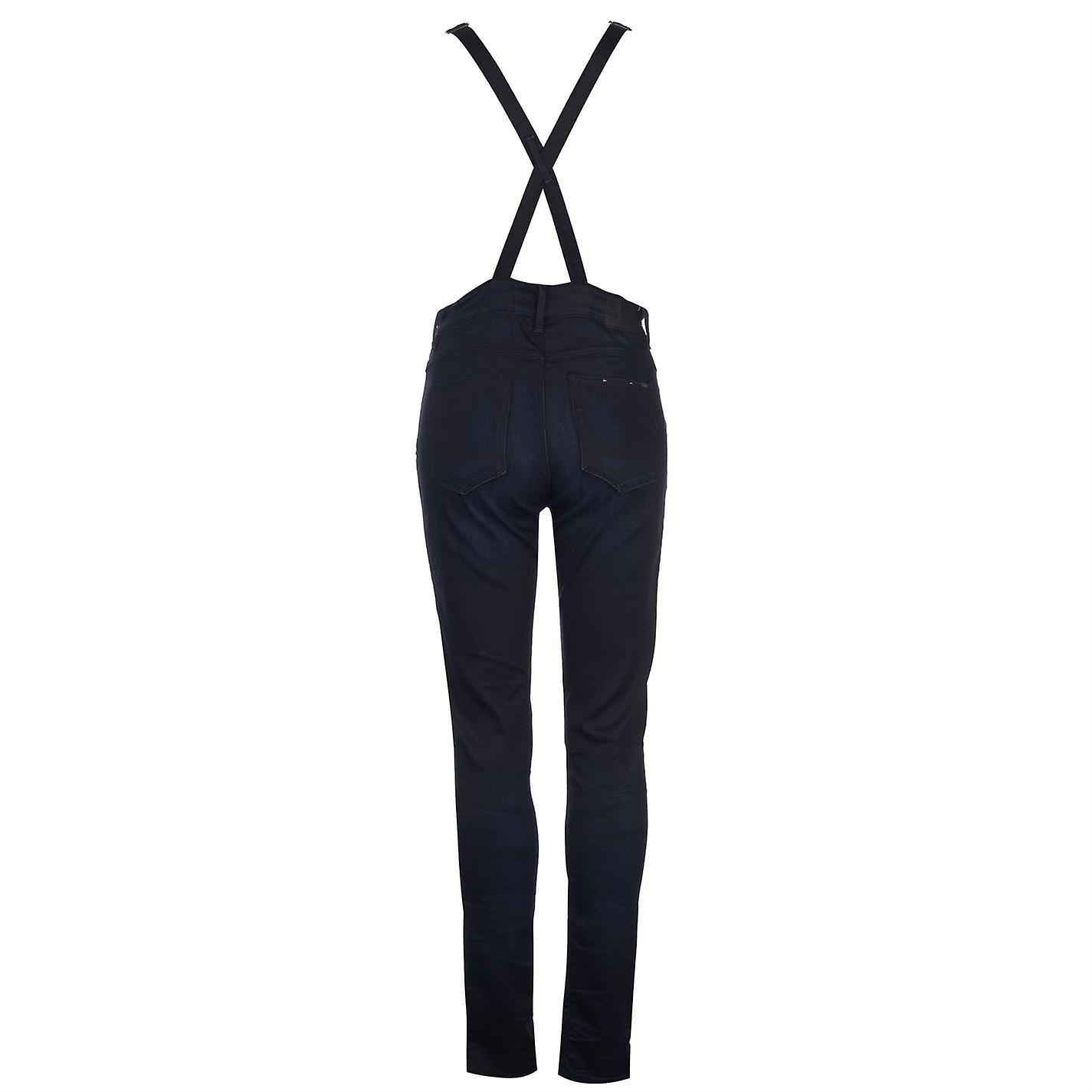 designer fashion f630e 742f2 G Star Womens Raw 3301 Overalls Jumpsuit Zip Denim