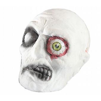 6 Halloween grusomheter grusomme en lyser øye Skull 20 Cm X 16 Cm (WSL310079)