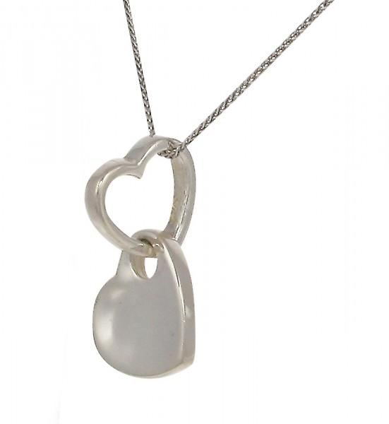 Cavendish French Looped silver heart pendant without Chain