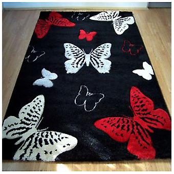 Rugs -Sprit Butterfly - Black / Red