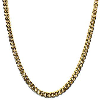 18K Gold Plated Franco Box Cuban Chain 6mm Stainless Steel