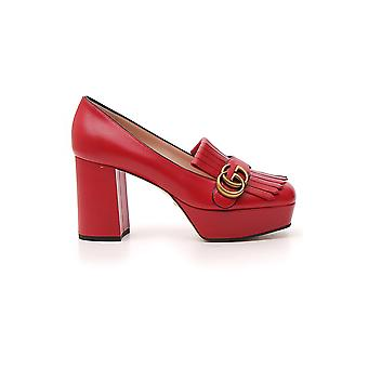 Gucci Red Leather Pumps