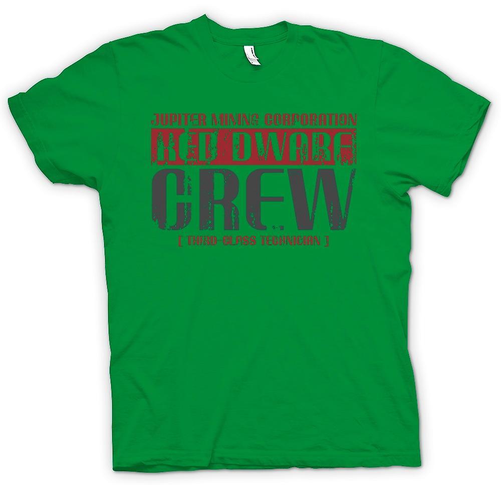 Heren T-shirt-Jupiter Mining Corp  Dwerg bemanning - 3e klasse technicus