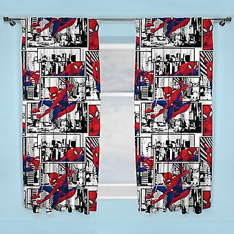 Spiderman Metropolis Spiderman Curtains 168 x 183 cm